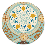 FR-5061 Aqua Stained Glass