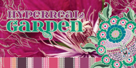 Hyperreal Garden by Pat Bravo. Fabrics with romantic and organic prints, line work and geometric patterns.