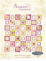 Parisian Windows Quilt Project by Pat Bravo