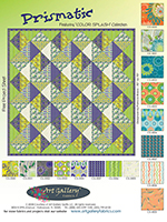 Prismatic Quilt Pattern by Pat Bravo