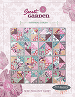 Secret Garden Quilt Free Pattern by Pat Bravo