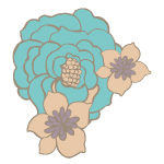 Revive by Pat Bravo Soft Blue Vector Flower.