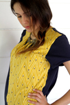 Yellow knit artisan shirt