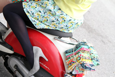 Carnaby Street Moped Fabric