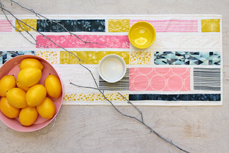 pink quilted table runner