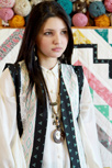 Etno Ethnic Vest Close up