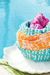 Girly Girl Fabric Cupcake