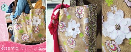Essential Tote Pattern by Pat Bravo