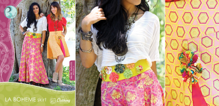 La Boheme Skirt Pattern by Pat Bravo